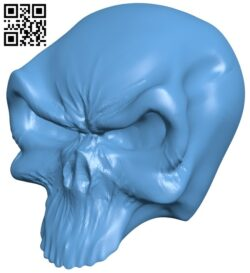 Skull B008569 file stl free download 3D Model for CNC and 3d printer