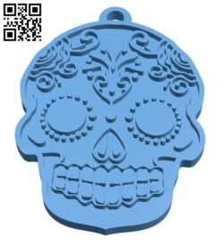 Skull-shaped pendant B008534 file stl free download 3D Model for CNC and 3d printer