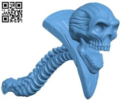 Skull wand B008504 file stl free download 3D Model for CNC and 3d printer
