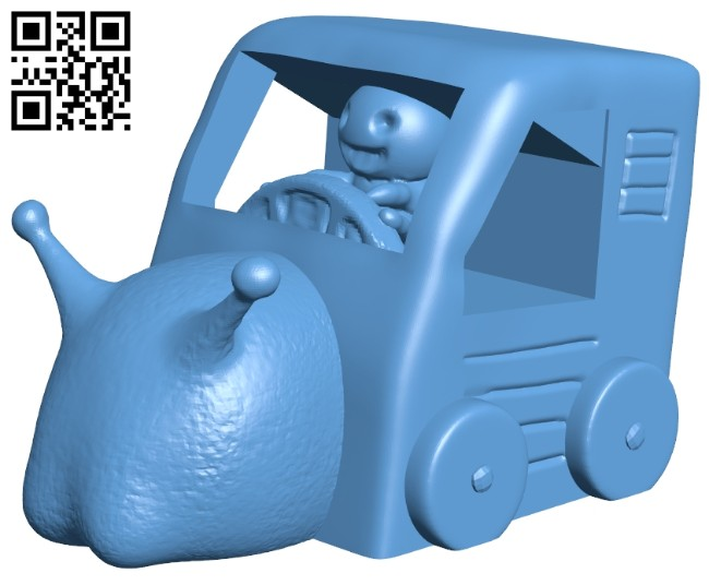Snail mail B008464 file stl free download 3D Model for CNC and 3d printer