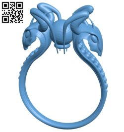 Snakes ring B008595 file stl free download 3D Model for CNC and 3d printer