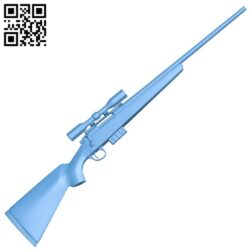 Sniper Rifle – gun B008513 file stl free download 3D Model for CNC and 3d printer
