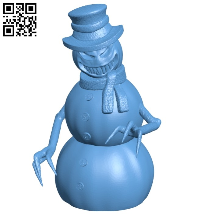Snowman - halloween B008463 file stl free download 3D Model for CNC and 3d printer