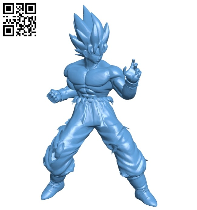 Son Goku - Dragon ball B008584 file stl free download 3D Model for CNC and 3d printer