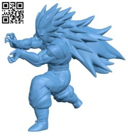 Son Goku – Dragon ball B008585 file stl free download 3D Model for CNC and 3d printer