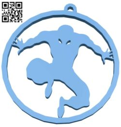 Spiderman pendant keychain B008586 file stl free download 3D Model for CNC and 3d printer