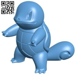 Squirtle – pokemon B008531 file stl free download 3D Model for CNC and 3d printer