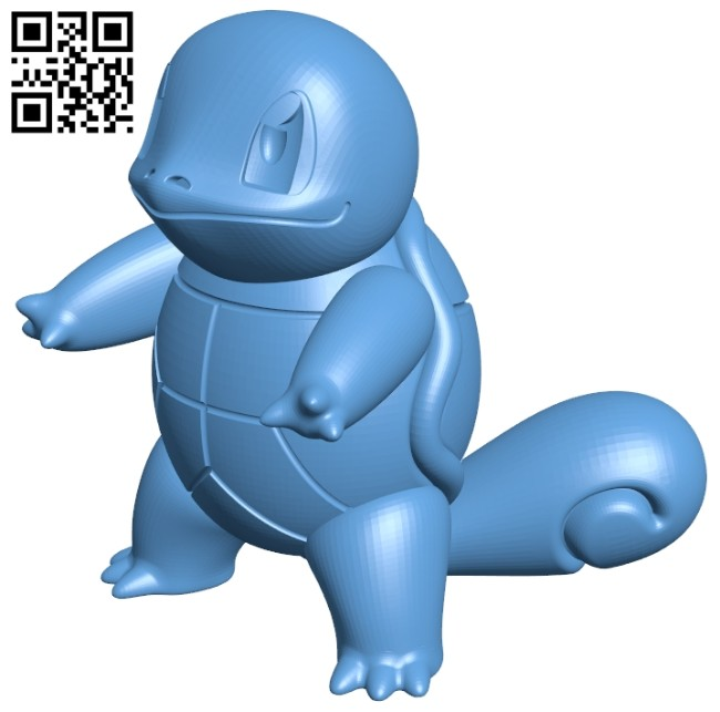 Squirtle - pokemon B008531 file stl free download 3D Model for CNC and 3d printer