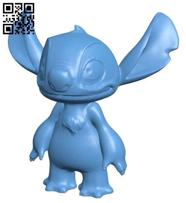Stitch B008466 file stl free download 3D Model for CNC and 3d printer