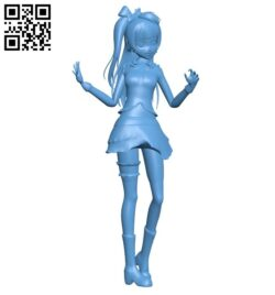 Street girl B008528 file stl free download 3D Model for CNC and 3d printer