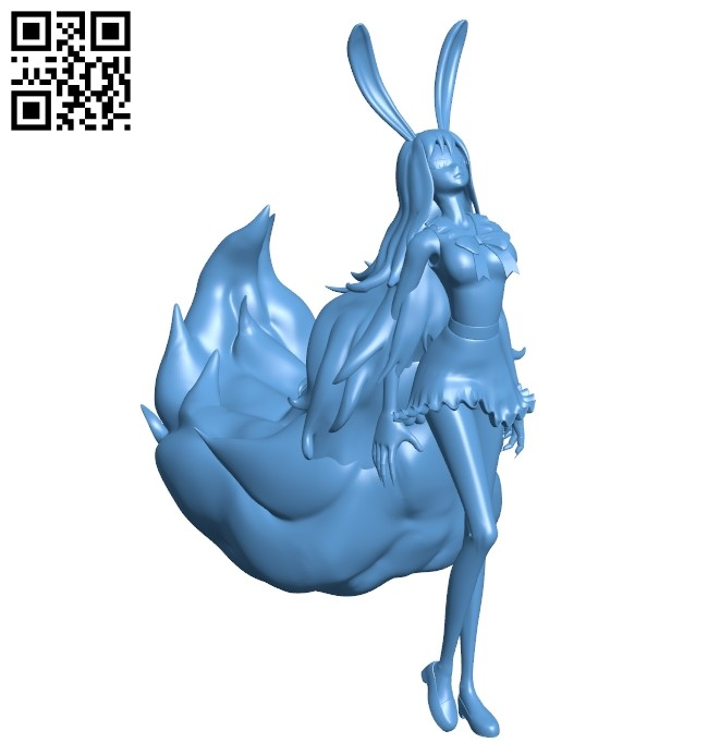 Sulong - girl with long hair B008434 file stl free download 3D Model for CNC and 3d printer