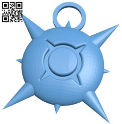 Sun keychain B008439 file stl free download 3D Model for CNC and 3d printer