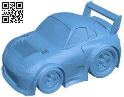Supra car B008363 file stl free download 3D Model for CNC and 3d printer