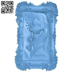 The picture of a goldfish – fish A005681 download free stl files 3d model for CNC wood carving