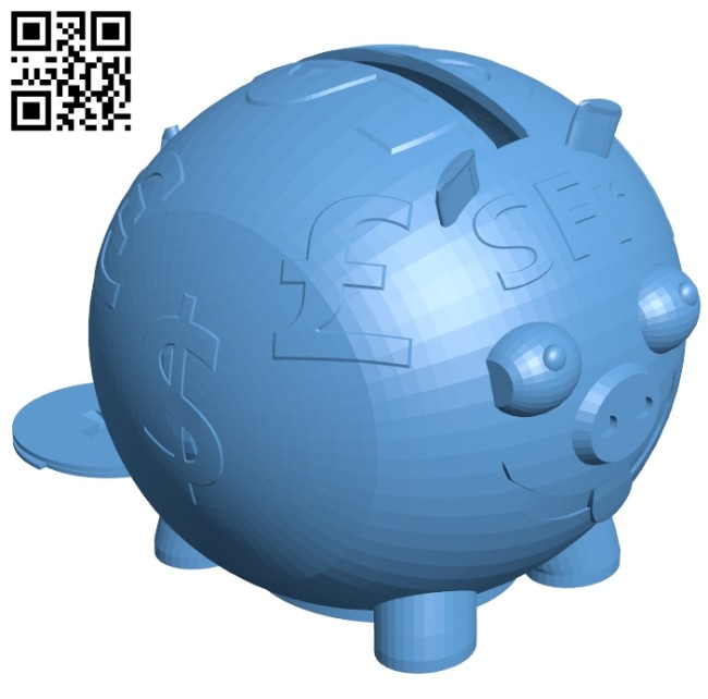 The pig saves money B008514 file stl free download 3D Model for CNC and 3d printer
