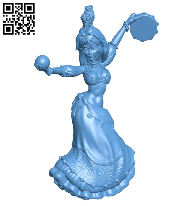 The witch is dancing - women B008517 file stl free download 3D Model for CNC and 3d printer