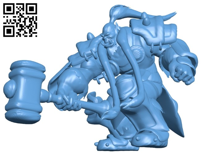 Thrall attack epaired B008444 file stl free download 3D Model for CNC and 3d printer