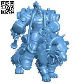 Thrall on wolf B008493 file stl free download 3D Model for CNC and 3d printer