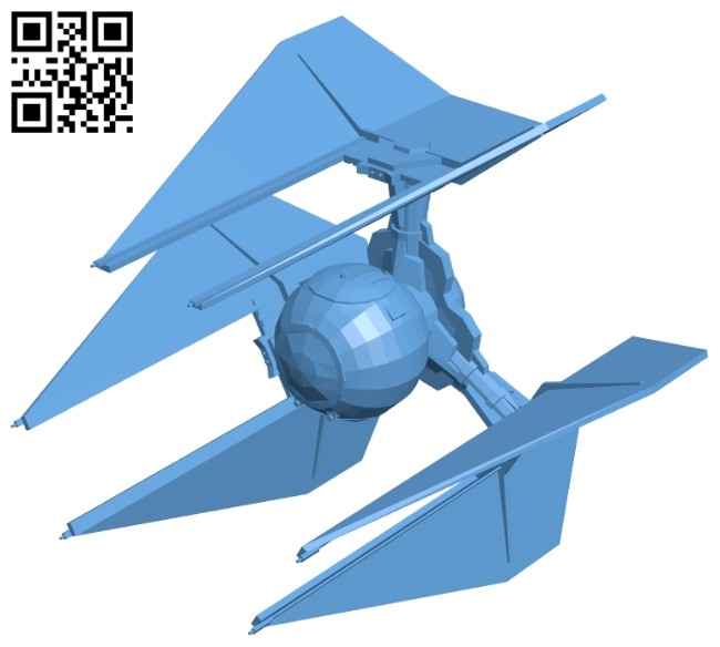 Tie Defender - ship B008497 file stl free download 3D Model for CNC and 3d printer