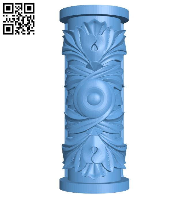Top of the column A005476 download free stl files 3d model for CNC wood carving