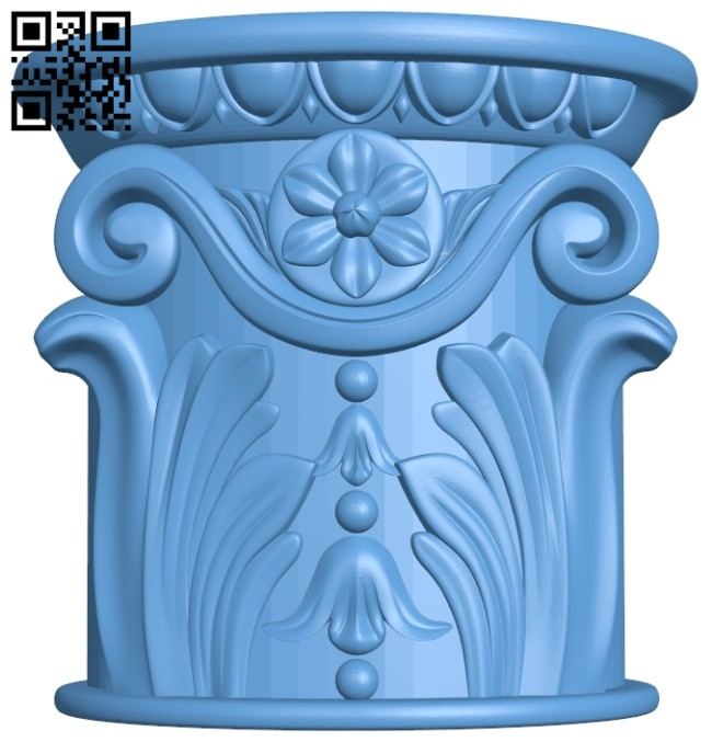 Top of the column A005478 download free stl files 3d model for CNC wood carving