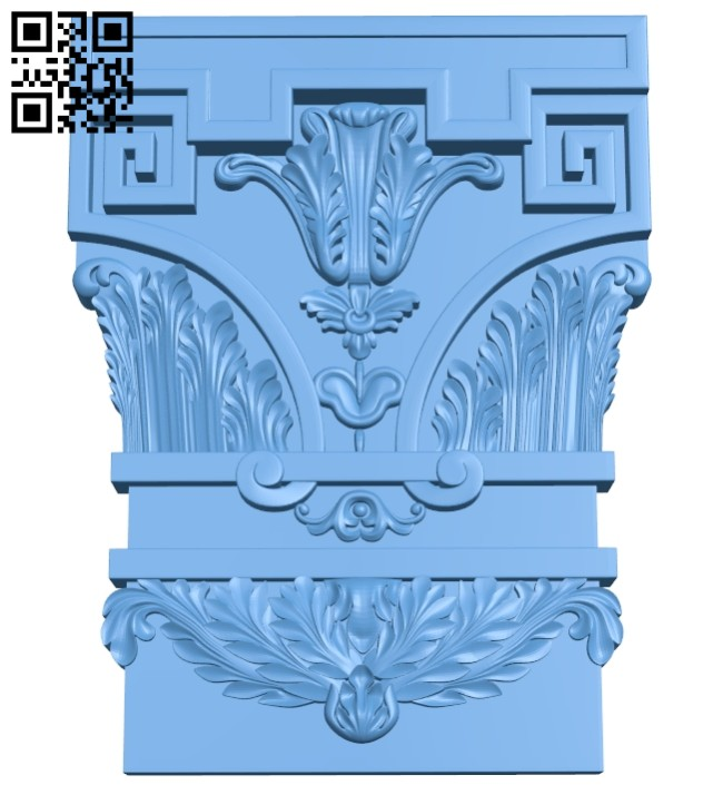 Top of the column A005481 download free stl files 3d model for CNC wood carving