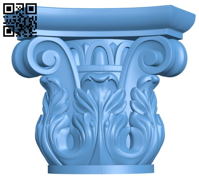 Top of the column A005483 download free stl files 3d model for CNC wood carving