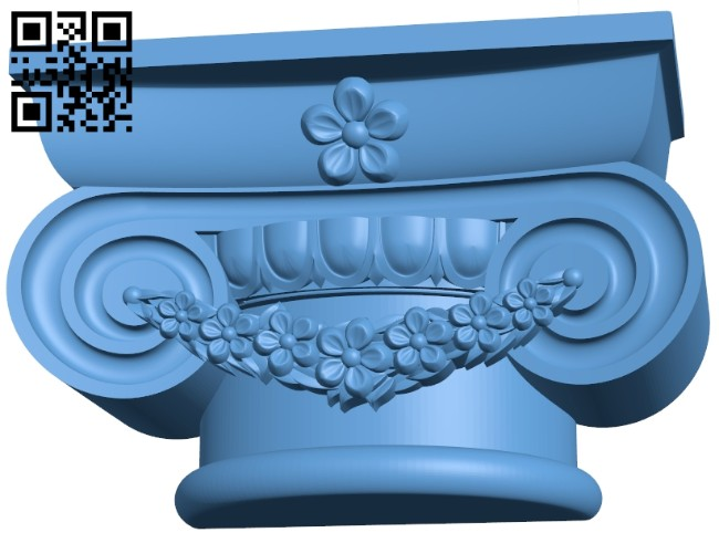 Top of the column A005565 download free stl files 3d model for CNC wood carving