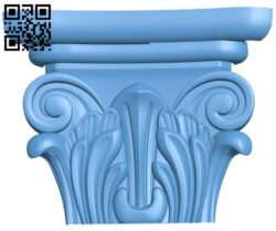 Top of the column A005566 download free stl files 3d model for CNC wood carving