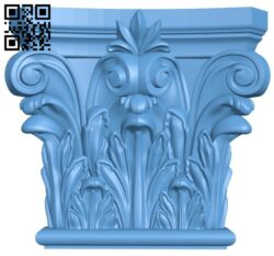 Top of the column A005567 download free stl files 3d model for CNC wood carving