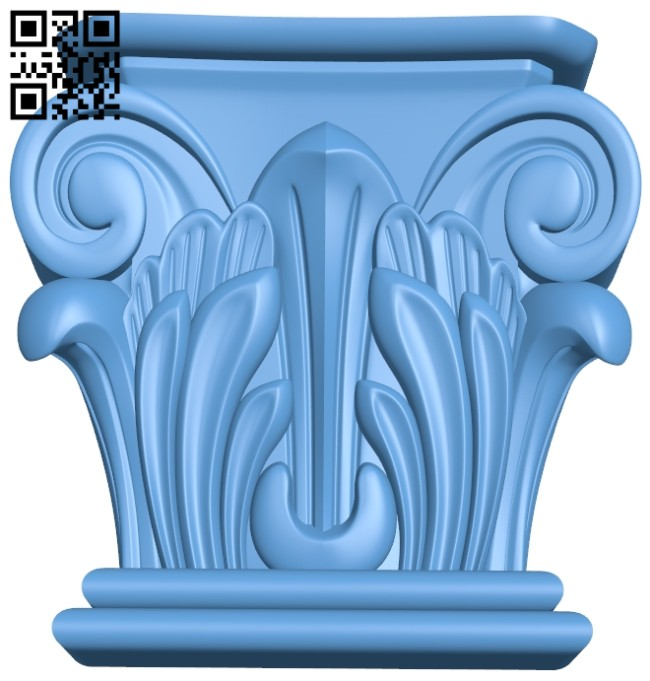 Top of the column A005613 download free stl files 3d model for CNC wood carving