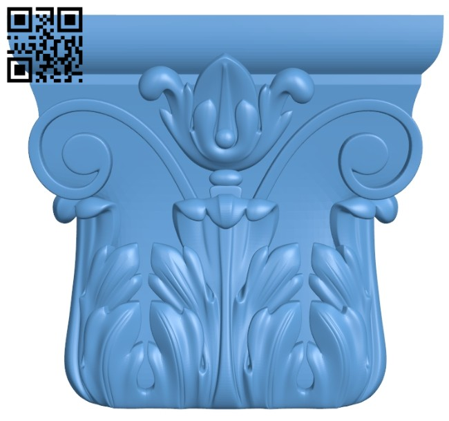Top of the column A005615 download free stl files 3d model for CNC wood carving