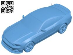 Toy ford – car B008437 file stl free download 3D Model for CNC and 3d printer