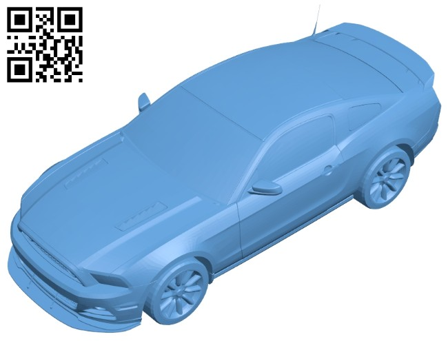 Toy ford - car B008437 file stl free download 3D Model for CNC and 3d printer