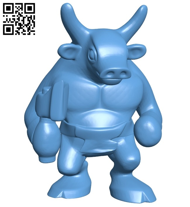 Toy minotaur B008479 file stl free download 3D Model for CNC and 3d printer