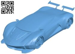 Vendetta GTR-800 supercar – car B008428 file stl free download 3D Model for CNC and 3d printer