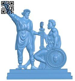 War of Greek warriors A005586 download free stl files 3d model for CNC wood carving