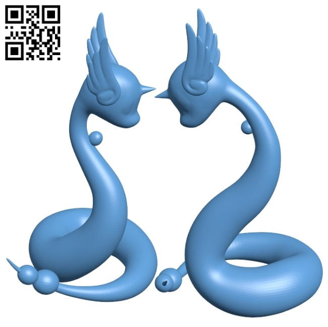 Water pokemon B008376 file stl free download 3D Model for CNC and 3d printer