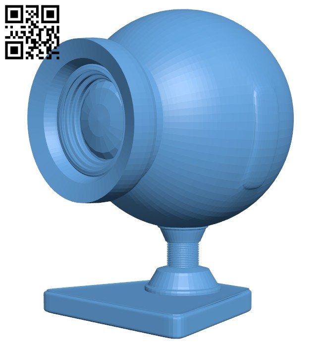 Webcam - camera B008443 file stl free download 3D Model for CNC and 3d printer