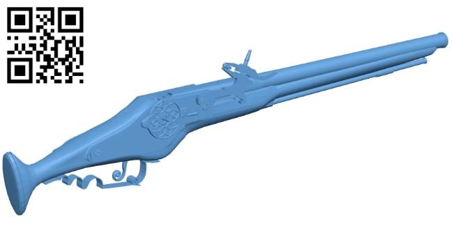 Wheel lock pistol - gun B008473 file stl free download 3D Model for CNC and 3d printer