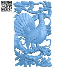 Wild chicken painting A005679 download free stl files 3d model for CNC wood carving