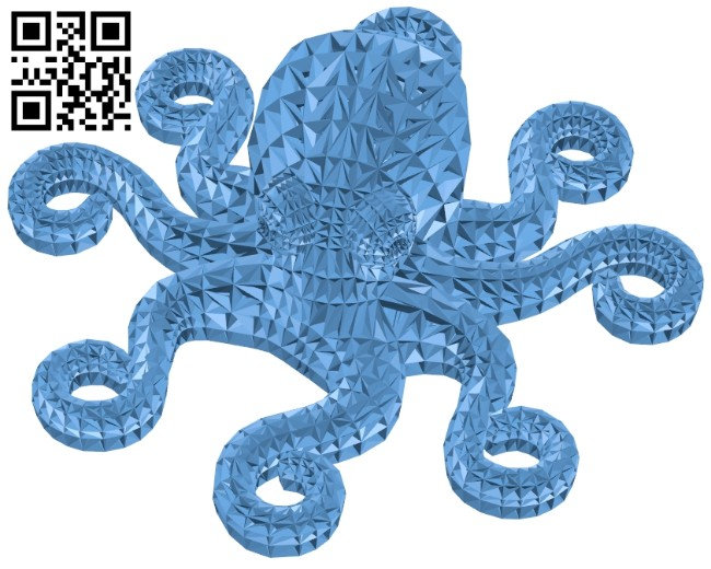 Wireframe octopus B008436 file stl free download 3D Model for CNC and 3d printer