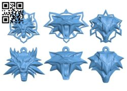 Witcher amulet keychain B008355 file stl free download 3D Model for CNC and 3d printer