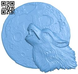 Wolf and moon A005663 download free stl files 3d model for CNC wood carving