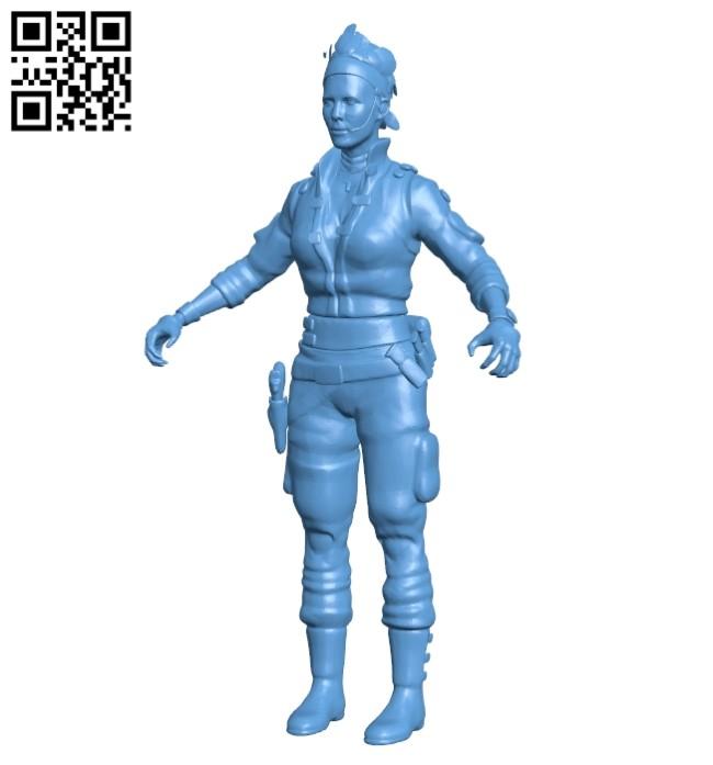 Women commando B008602 file stl free download 3D Model for CNC and 3d printer