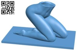 Women planter B008476 file stl free download 3D Model for CNC and 3d printer