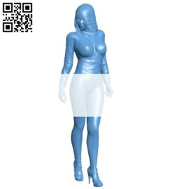 Women top model B008503 file stl free download 3D Model for CNC and 3d printer