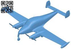 Air plane  Let L-200 morava B008779 file obj free download 3D Model for CNC and 3d printer