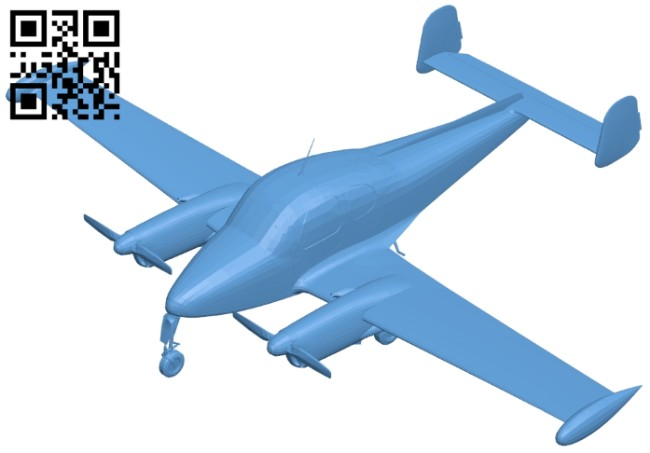 Air plane Let L-200 morava B008779 file obj free download 3D Model for CNC and 3d printer