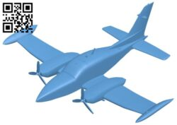 Aircraft C310 B008654 file stl free download 3D Model for CNC and 3d printer